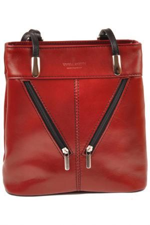 Рюкзак FLORENCE BAGS. Цвет: bordeaux and black