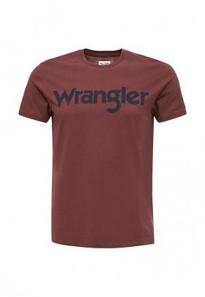 Футболка Wrangler. Цвет: коричневый