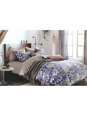 Комплект постельного белья, 1,5 спальный Sofi de Marko. Цвет: синий
