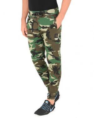 Повседневные брюки CONVERSE ALL STAR. Цвет: зеленый-милитари