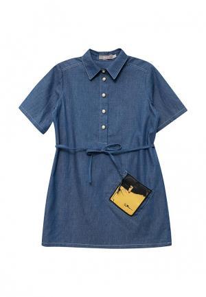 Платье джинсовое Shened. Цвет: голубой