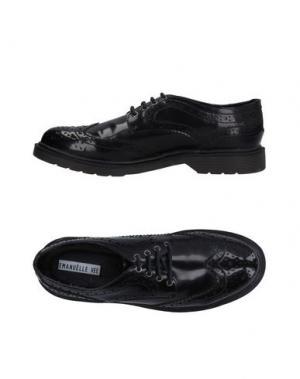 Обувь на шнурках EMANUÉLLE VEE. Цвет: черный