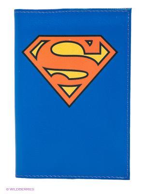 Обложка для автодокументов Супермен Mitya Veselkov. Цвет: синий