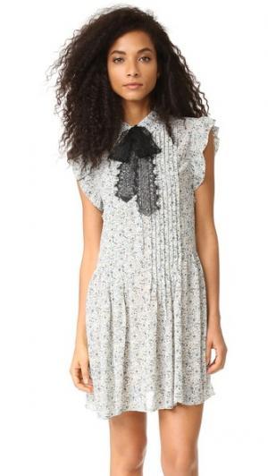 Платье-рубашка Paxton WAYF. Цвет: слоновая кость с цветочным принтом