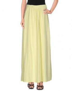 Длинная юбка EMPATHIE. Цвет: кислотно-зеленый
