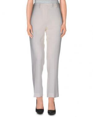 Повседневные брюки NORMALUISA. Цвет: слоновая кость