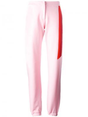 Спортивные брюки с полосой Caitlin Price. Цвет: розовый и фиолетовый