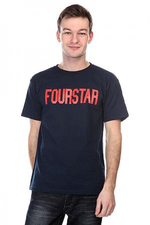 Футболка  League Navy Fourstar. Цвет: синий