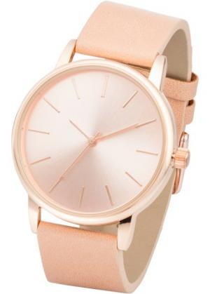 Классические часы (телесный/розово-золотистый) bonprix. Цвет: телесный/розово-золотистый