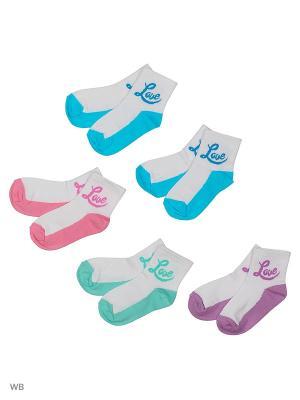 Носки детские (5 пар) HOSIERY. Цвет: розовый, салатовый, голубой