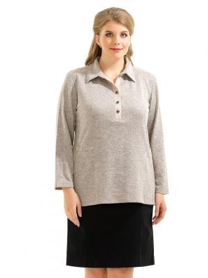 Блузка LikModa. Цвет: серый меланж