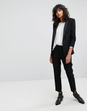 AllSaints Укороченные брюки. Цвет: черный