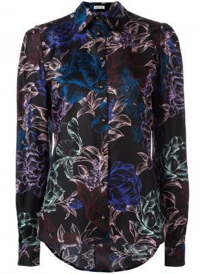 Рубашка с цветочным узором Emanuel Ungaro. Цвет: чёрный