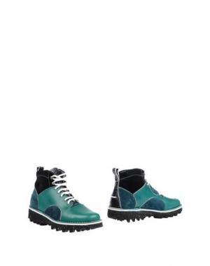 Полусапоги и высокие ботинки BARLEYCORN. Цвет: цвет морской волны