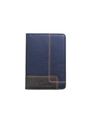Бумажник водителя, с отделением для купюр, Floter cross синий Domenico Morelli. Цвет: темно-синий, темно-коричневый