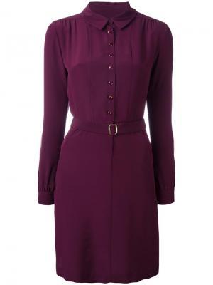 Платье-рубашка с поясом Vanessa Seward. Цвет: красный