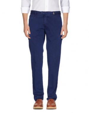 Повседневные брюки GIO ZUBON. Цвет: синий