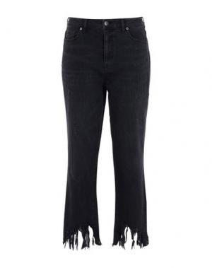 Джинсовые брюки GEORGE J. LOVE. Цвет: черный