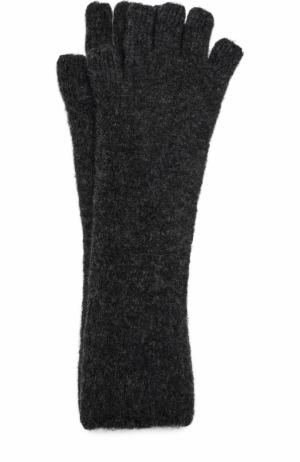 Удлиненные вязаные перчатки Isabel Benenato. Цвет: черный