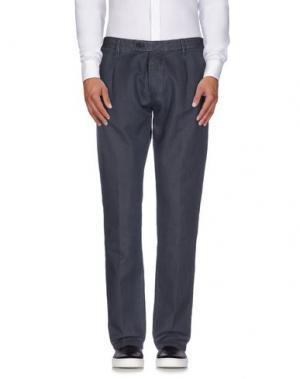 Повседневные брюки MESSAGERIE. Цвет: грифельно-синий