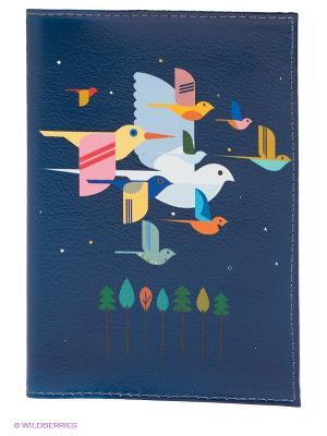 Обложка для паспорта Mitya Veselkov. Цвет: темно-синий