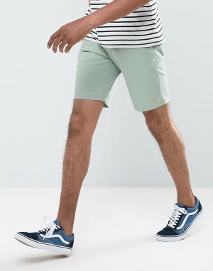 Farah Зеленые шорты чиносы Hawk. Цвет: зеленый