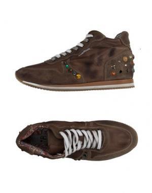 Высокие кеды и кроссовки YAB. Цвет: хаки