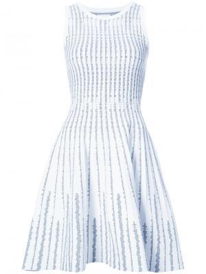 Расклешенное платье Milly. Цвет: белый