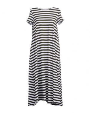 Платье длиной 3/4 A.B APUNTOB. Цвет: зеленый-милитари