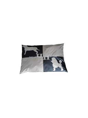 Подушка Пудель DOG LIFESTYLE M 107*70*10 см для домашних животных Happy House. Цвет: черный
