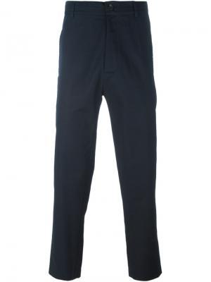 Укороченные брюки Punto Cavallo Société Anonyme. Цвет: синий