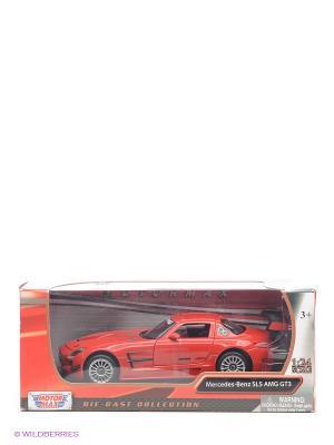 Машинка коллекционная Mercedes Benz SLS АMG GT3 в масштабе 1к24 Motormax. Цвет: красный