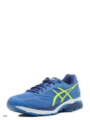Спортивная обувь GEL-PULSE 8 ASICS. Цвет: голубой, желтый, темно-синий