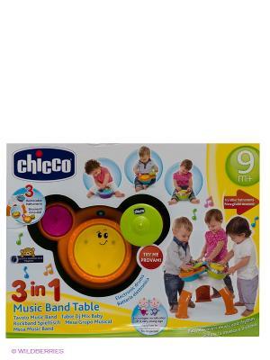 Музыкально-игровой столик DJ-консоль CHICCO. Цвет: желтый, красный, оранжевый