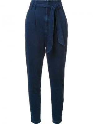 Зауженные книзу брюки Ag Jeans. Цвет: синий