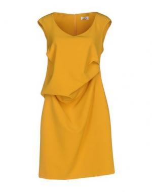 Короткое платье KATE. Цвет: охра