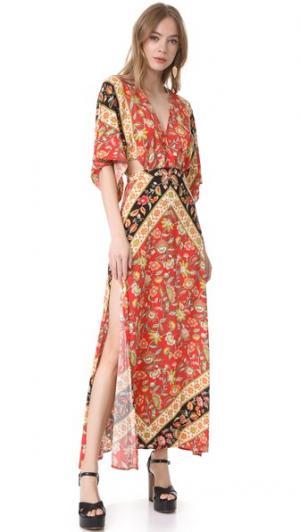 Макси-платье Lolita с вырезами SPELL. Цвет: огненный