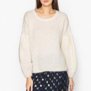 Пуловер с круглым вырезом из тонкого трикотажа SIRI AMERICAN VINTAGE. Цвет: желтый,экрю