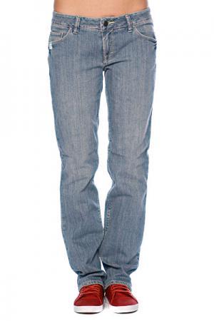 Джинсы прямые женские  5Pkt Str8 Classic Blue Matix. Цвет: синий