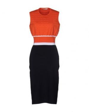 Платье до колена MARY KATRANTZOU. Цвет: оранжевый