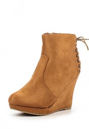 Ботильоны WS Shoes. Цвет: коричневый
