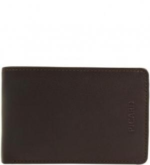 Коричневое портмоне из натуральной кожи Picard. Цвет: коричневый