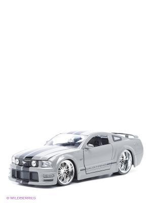 Автомобиль FORD MUSTANG Jada. Цвет: серый