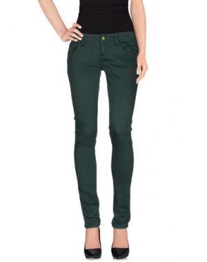 Повседневные брюки MONKEE GENES. Цвет: темно-зеленый