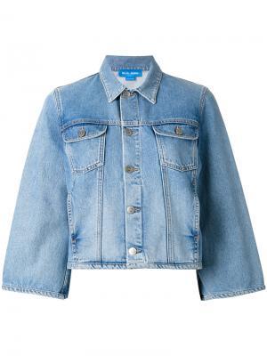 Классическая джинсовая куртка Mih Jeans. Цвет: синий