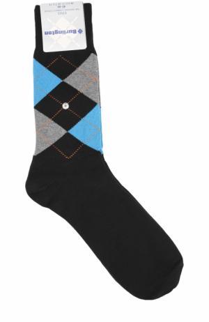 Хлопковые носки King Burlington. Цвет: черный