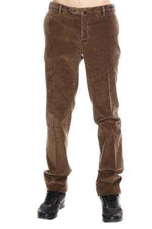 Брюки PT. Цвет: коричневый