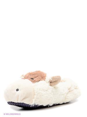Детские тапочки Коровка Cozy Heads. Цвет: молочный, светло-коричневый