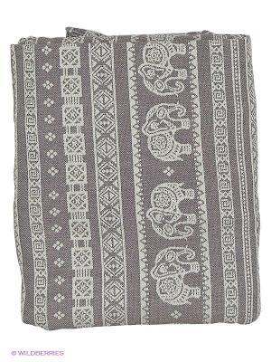 Слинг-шарф Elephant Grey, long Mum`s Era. Цвет: светло-серый, молочный