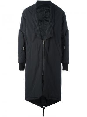 Пальто-пуховик D.Gnak. Цвет: чёрный